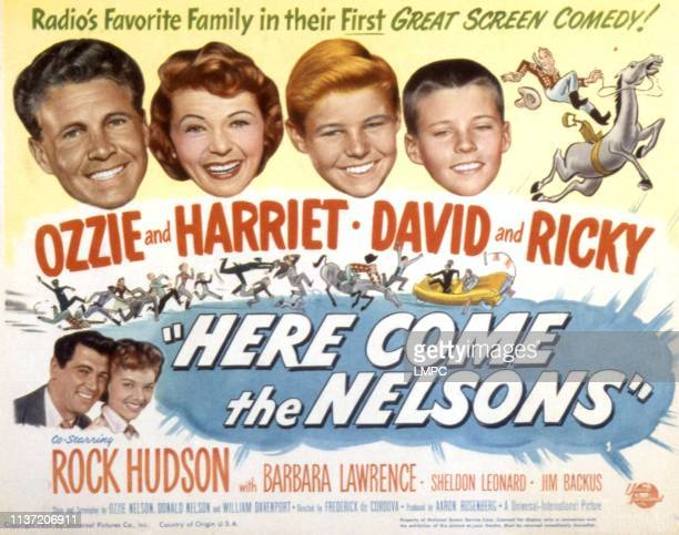 Here Come The Nelsons lobbycard Ozzie Nelson Harriet Hilliard David Nelson Ricky Nelson Rock Hudson Barbara Lawrence 1952