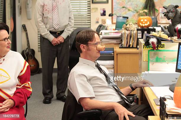 THE OFFICE Here Comes Treble Episode 906 Pictured Phyllis Smith as Phyllis Vance Rainn Wilson as Dwight Schrute