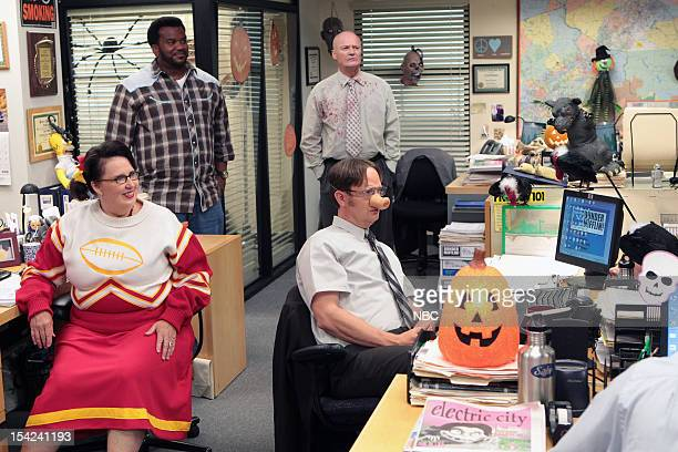 """Here Comes Treble"""" Episode 906 -- Pictured: Phyllis Smith as Phyllis Vance, Craig Robinson as Darryl Philbin, Creed Bratton as Creed, Rainn Wilson as..."""