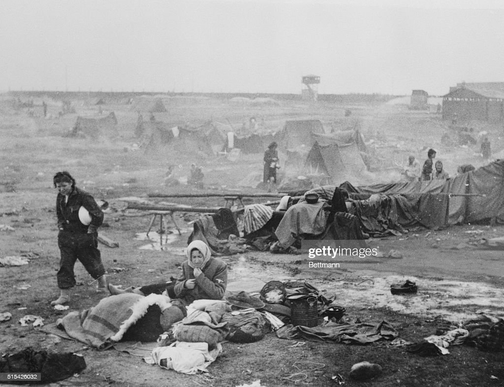 View of Belsen Concentration Camp : News Photo