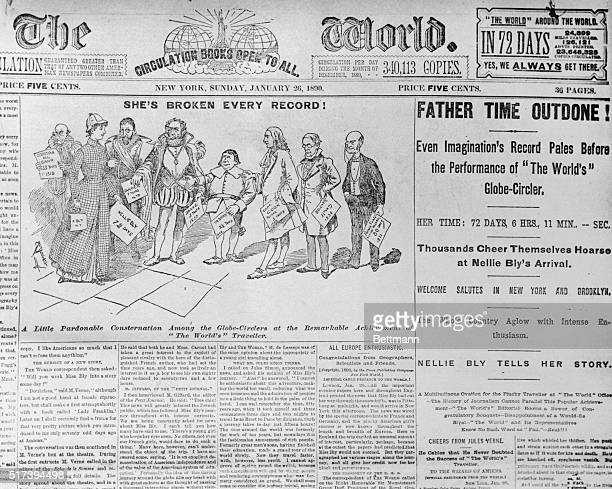 Here is a newspaper article on no other than Nellie Bly an American journalist and around the world traveler