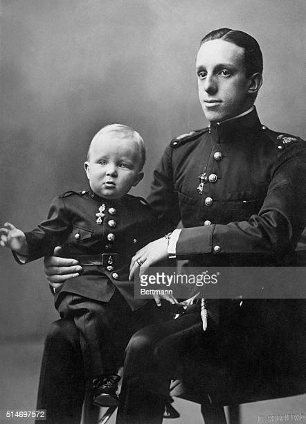 Here is a photo showing King Alfonso of Spain with his son Prince of the Asturias the present crown prince of Spain taken quite a number of years ago
