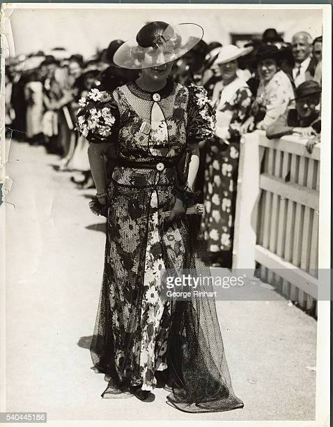 Here is a striking fashion seen on the course at the Ascot Races
