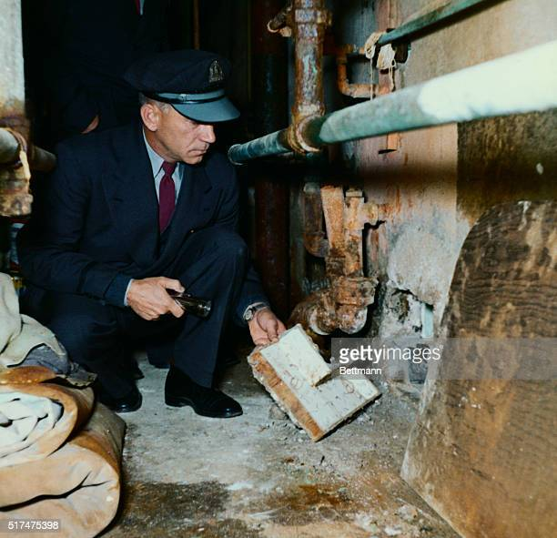 Here is one of the cells in Cell Block B in Alcatraz Prison in San Francisco Bay from which three prisoners escaped 6/12 Here is an officer showing...