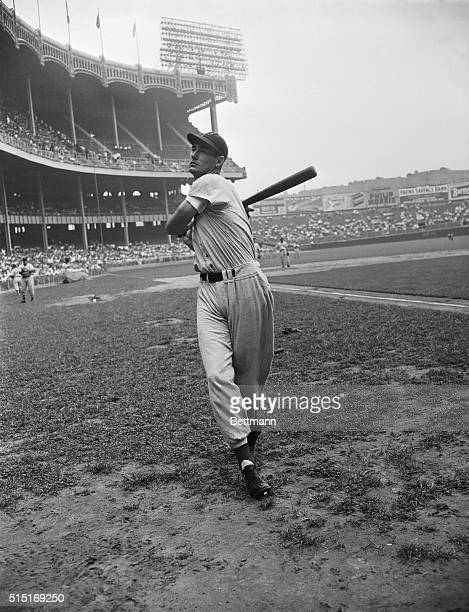 Here is Ted Williams, outfielder for the Boston Red Sox, winners of the 1946 American League pennant.