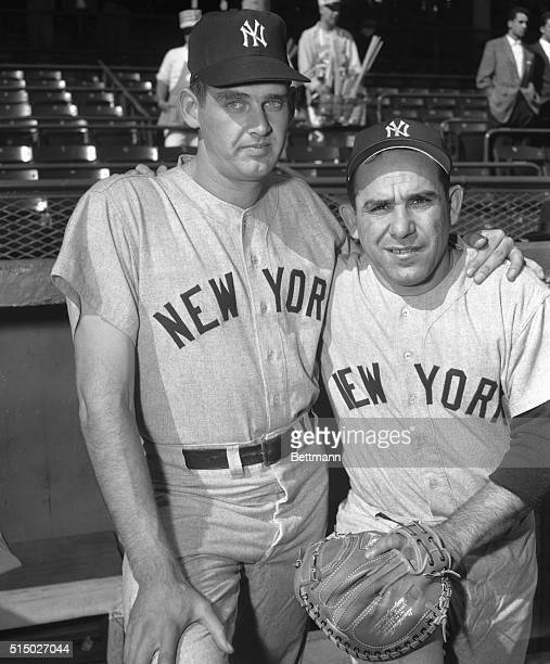 Here is the battery whose names will join those of other baseball immortals pitcher Don Larsen and catcher Yogi Berra of the Yankees the battery in...