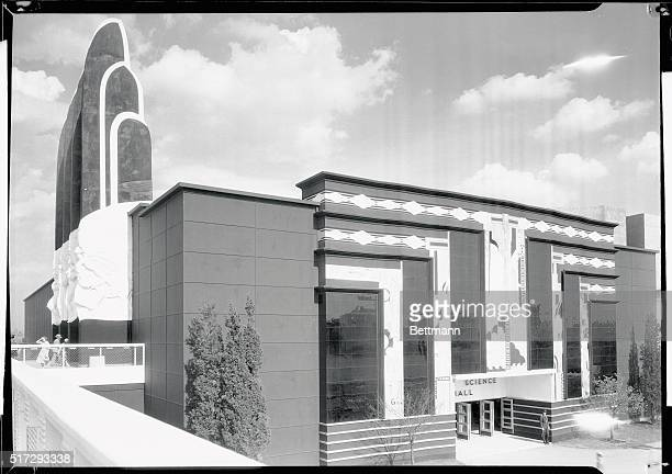 Here is the Hall of Science building on exhibition at the 1933 World's Fair Chicago