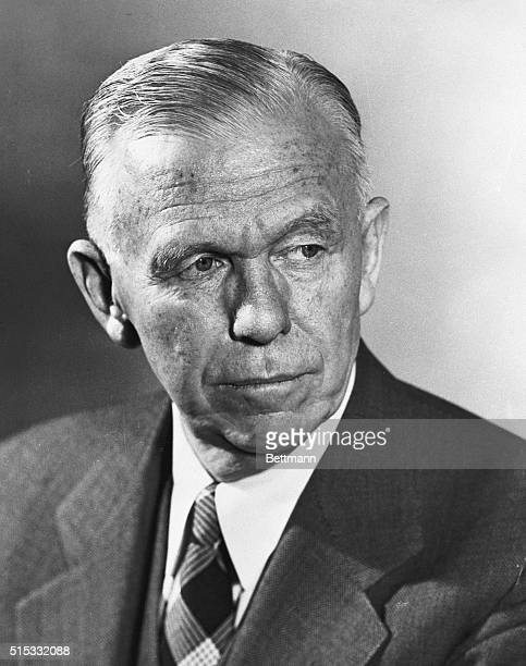 Here is the most recent official portrait of General George C Marshall President of the American Red Cross