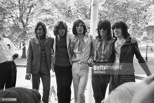 Here is the new Rolling Stones lineup Mick Taylor a young lead guitarist has just joined the pop group in place of Brian Jones who quit after...