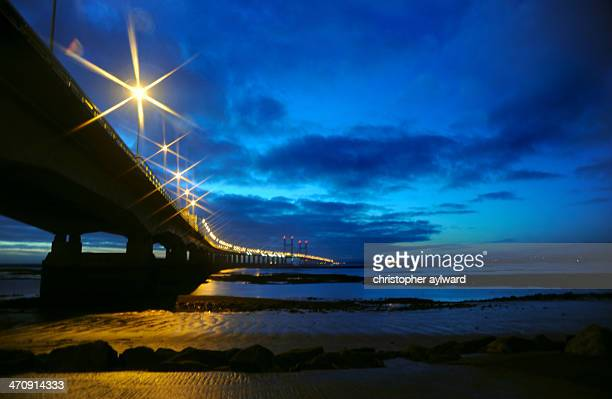 CONTENT] HEre is the wonderful second Severn Crossing carrying the M4 motorway from England into Wales This was taken as dusk as the deep blue skies...