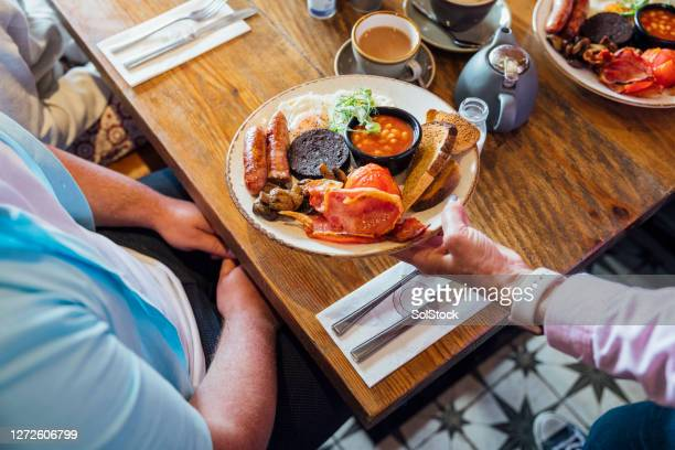 here is your breakfast - ready to eat stock pictures, royalty-free photos & images
