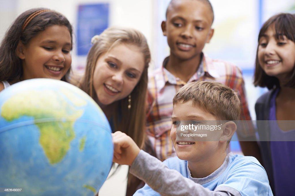 Ça y est ! En classe de géographie : Photo