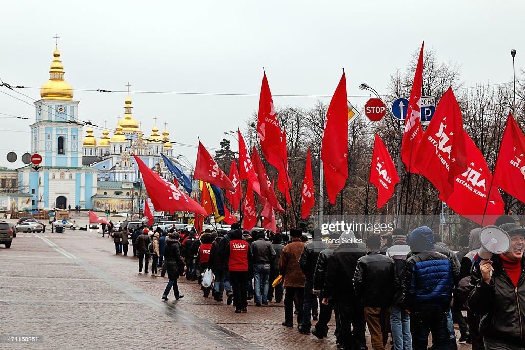 Demonstration in Kiev, Ukraine : Nieuwsfoto's