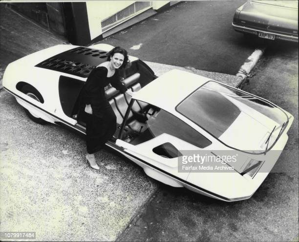 Here Norwegian lass Anna-Bitte Klose of Paddington is pictured with the supercar.The Queen of the 1977 Sydney International Motor Show, the...