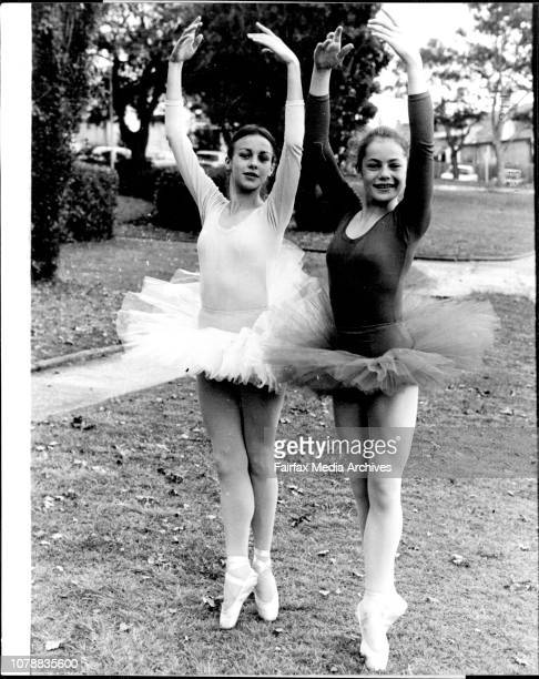 Here Rebecca and Fiona practice in Mosman park Rebecca Hancock 14 of Wollstonecraft and Fiona Shaw 14 Mosman of the Mavis Sykes school of Ballet are...