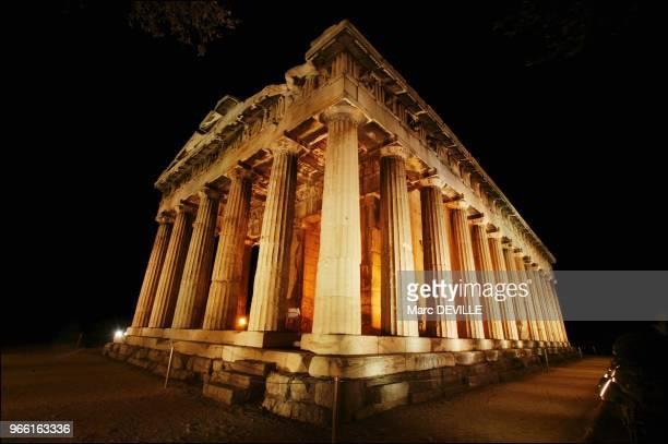 Here the Thyssion temple dedicated to the god of fire lit by French Pierre Bideau This temple is one of the most preserved edifice of the Hellenic...