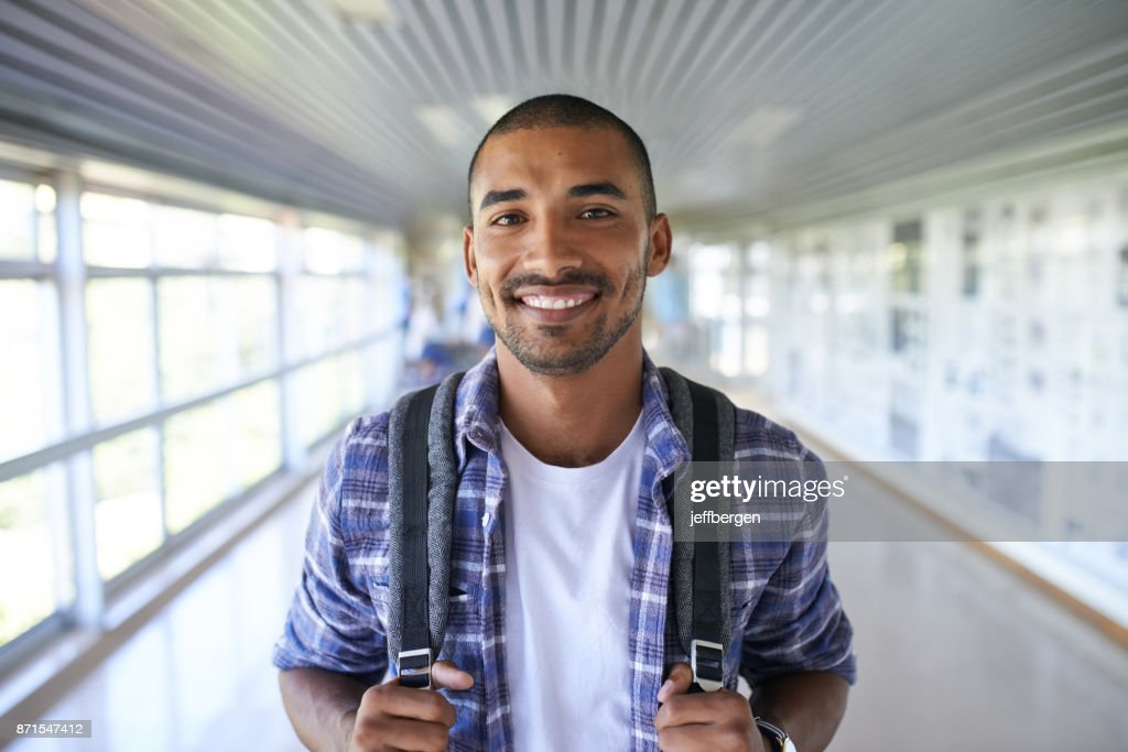 Here to secure my future : Stock Photo
