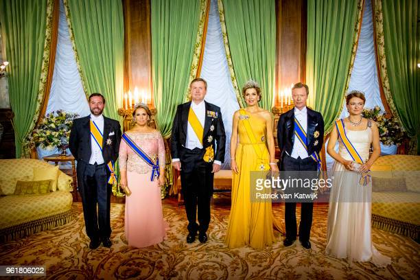 Hereditary Grand Duke Guillaume of Luxembourg Grand Duchess Maria Teresa of Luxembourg King WillemAlexander of The Netherlands Queen Maxima of The...