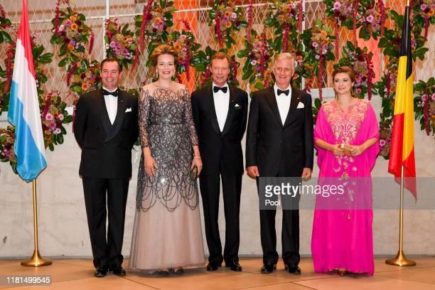 Hereditary Grand Duke Guillaume of Luxembourg Queen Mathilde of Belgium Grand Duke Henri of Luxembourg King Philippe of Belgium and Hereditary Grand...