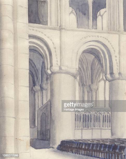 Hereford Cathedral' 1951 Hereford Cathedral built 10791095 with very thick stone walls in the Norman or English Romanesque style The cathedrals were...