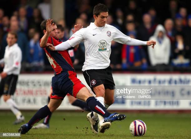 Hereford United's Kris Taylor and Shrewsbury Town's James Ryan