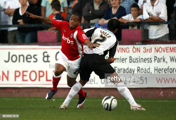 Hereford United's Ryan Green and Charlton Athletic's Wade Small