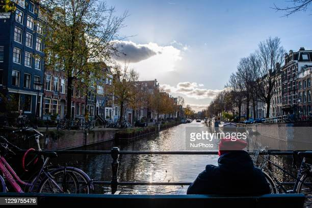 Herengracht, one of the streets where the trees are in under treat of being cut down, in the center of Amsterdam, on November 23rd, 2020.