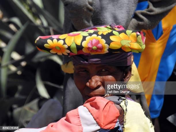 Herero woman trading in the Kaokoveld
