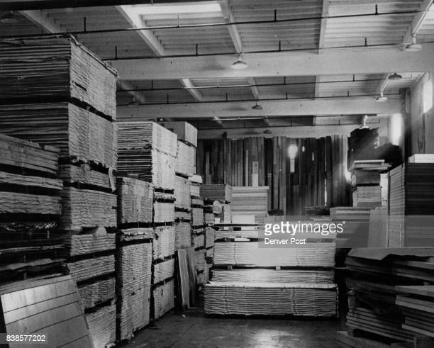 Here's a portion of the huge inventory of playwood which along with a myraid of other lumber products are stocked in the $15 million GeorgiaPacific...