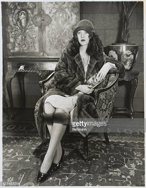 Here's Dorothy Mackaill First National's famous antifat star in a new sensation knee muffs which now promise to be the winter fashion rage in New...