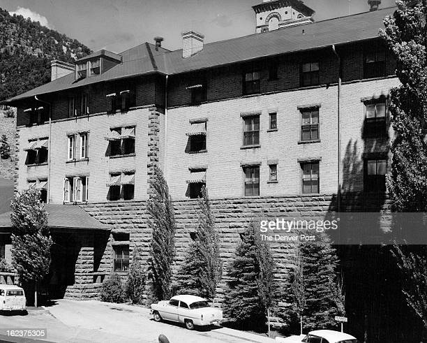 AUG 28 1955 Here's the fabulous Hotel Colorado which will serve as home base for the 1 955 Denver PostDave Cook Big Trout Contest Champions when they...