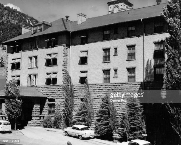 Here's the fabulous Hotel Colorado which will serve as home base for the 1 955 Denver PostDave Cook Big Trout Contest Champions when they visit...