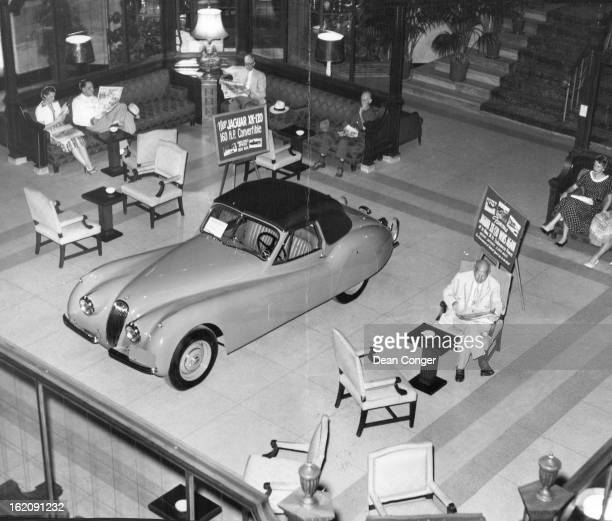 JUL 23 1953 AUG 2 1953 Here's the latest model in the Jaguar linethe sleek XK120 convertible featuring a fully lined mohair top and fine English...