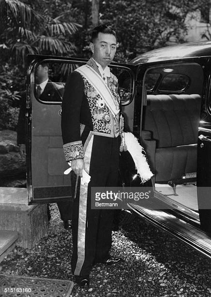 Here's the newest portrait of Japan's Premiere Prince Fumimaro Konoe taken recently in Tokyo when he left his residence for a conference with the...