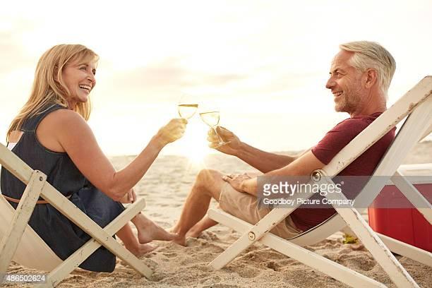 Hier ist eine romantische Ruhestand