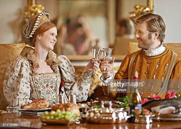 here's to health and happiness m'lady - royal stock photos and pictures