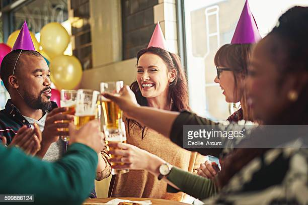 Funny birthday images free stock photos and pictures getty images heres to the birthday girl voltagebd Gallery