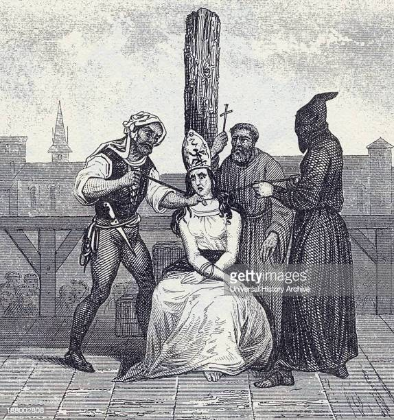 A Heretic Is Garroted During The Spanish Inquisition From A 19Th Century Engraving