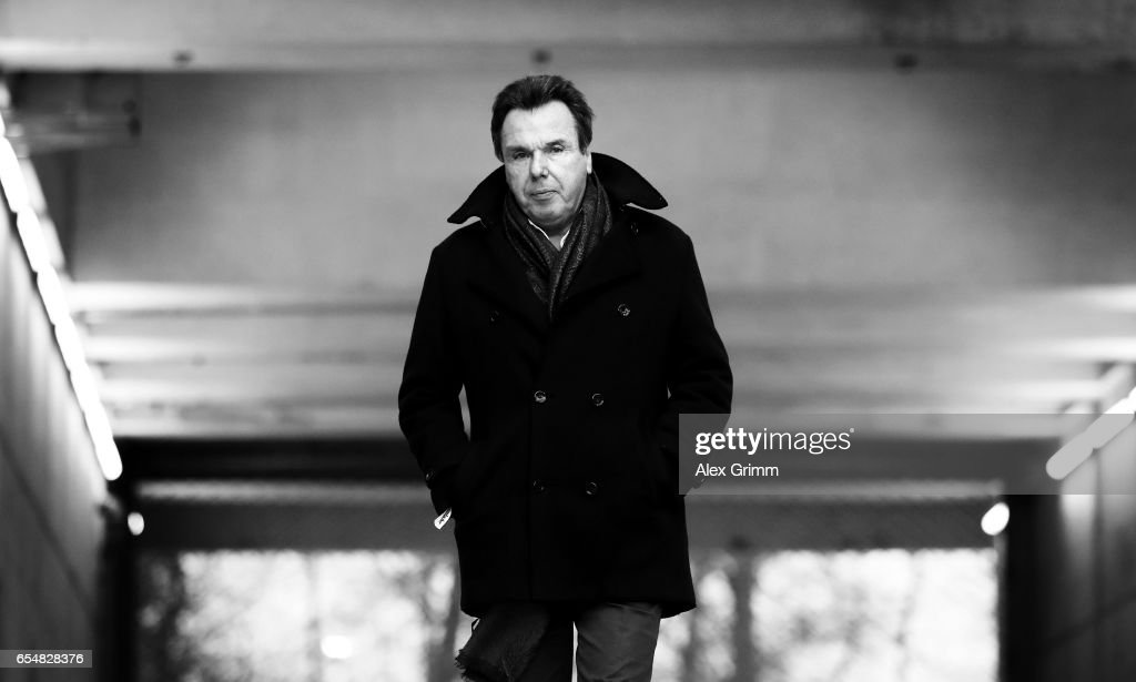 Heribert Bruchhagen, executive director of sport of Hamburg is seen during the Bundesliga match between Eintracht Frankfurt and Hamburger SV at Commerzbank-Arena on March 18, 2017 in Frankfurt am Main, Germany.