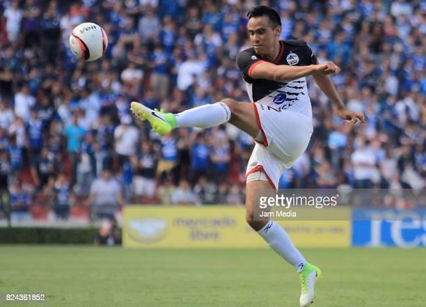 Heriberto Olvera of Lobos BUAP kicks the ball during the 2nd round match between Queretaro and Lobos BUAP as part of the Apertura Tournament 2017...