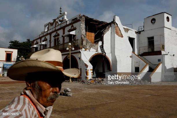 Heróico Ayuntamiento the local Government Office suffered structural damage from the recent earthquake in Jojutla Morelos Mexico on Sept 23 2017...