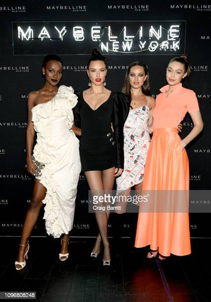 Herieth Paul Adriana Lima Emily DiDonato and Gigi Hadid attend the Maybelline New York Fashion Week Party on February 10 2019 in New York City