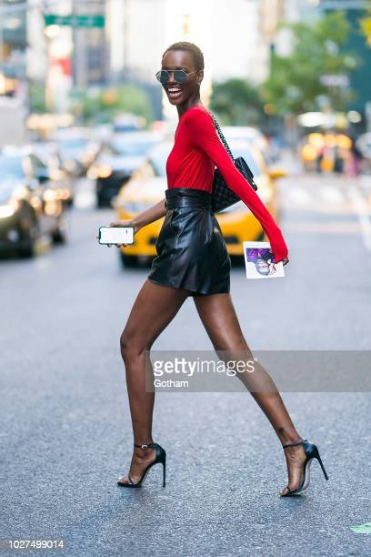 Herieth Paul attends casting for the 2018 Victoria's Secret Fashion Show in Midtown on September 5 2018 in New York City