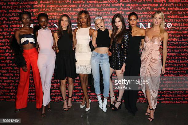 Herieth Paul Emily DiDonato Jourdan Dunn Gigi Hadid Kemp Muhl Cris Urena and Lena Gercke attend Maybelline New York celebrates fashion week at Dream...