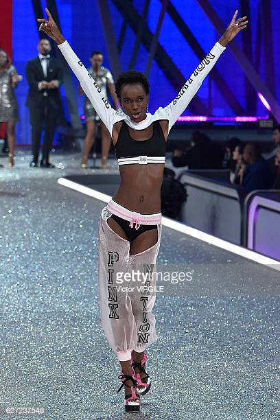 Herieth Paul walks the runway during the 2016 Victoria's Secret Fashion Show on November 30 2016 in Paris France