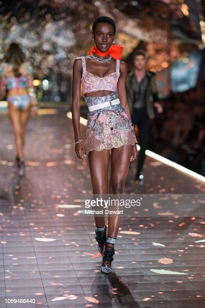 Herieth Paul walks the runway during the 2018 Victoria's Secret Fashion Show at Pier 94 on November 8 2018 in New York City
