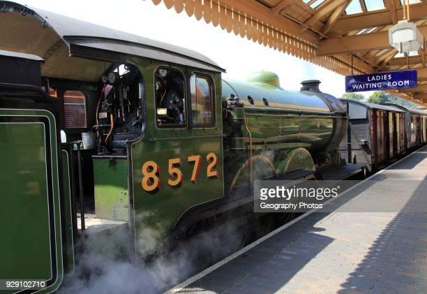 Heritage steam railway Sheringham station North Norfolk Railway England UK