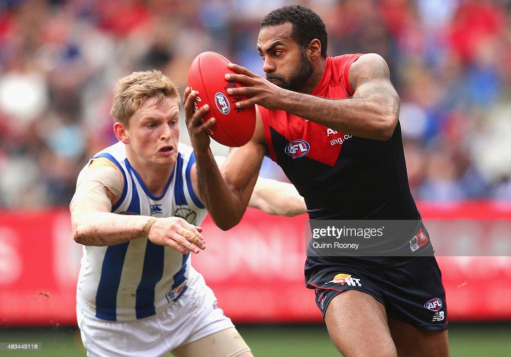 AFL Rd 19 -  Melbourne v North Melbourne : News Photo