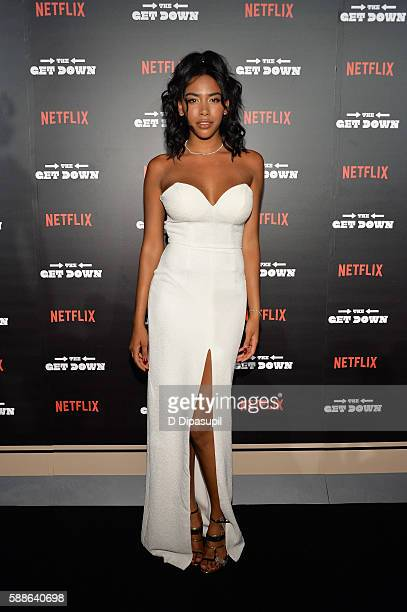Herizen Guardiola attends 'The Get Down' New York premiere at Lehman Center For The Performing Arts on August 11 2016 in the Bronx borough of New...