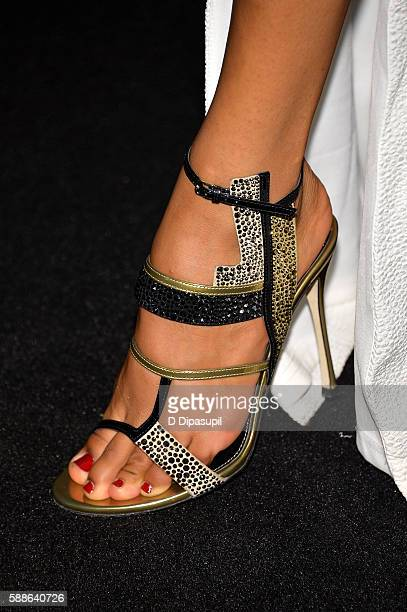 Herizen Guardiola shoe detail attends 'The Get Down' New York premiere at Lehman Center For The Performing Arts on August 11 2016 in the Bronx...
